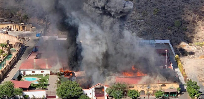 Stor brand i Maspalomas, Aqualand evakuerat