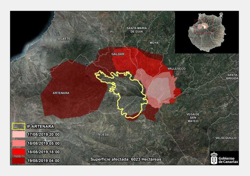 Området är nu 6 gånger större än den förra branden