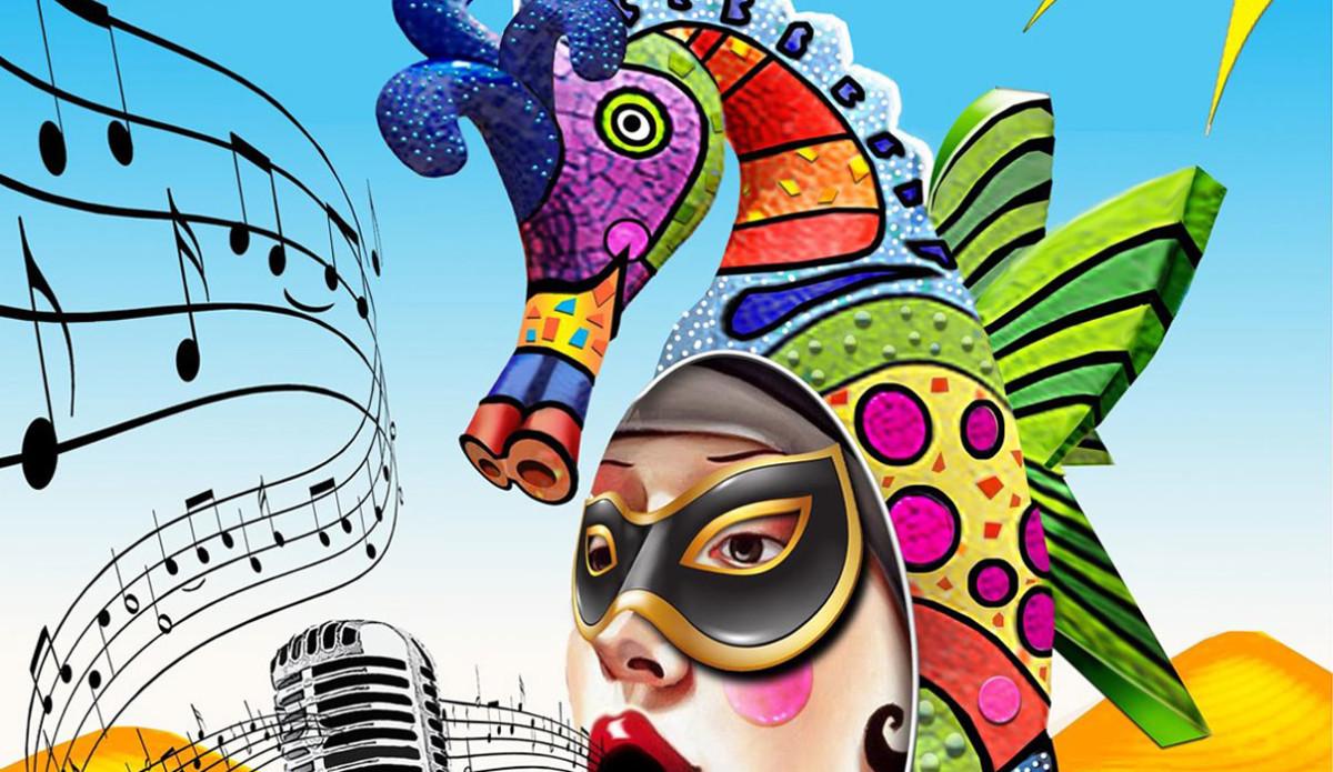 Bodypaint på karnevalen i Maspalomas