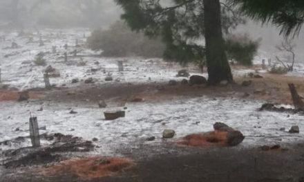 Snö i bergen på Gran Canaria