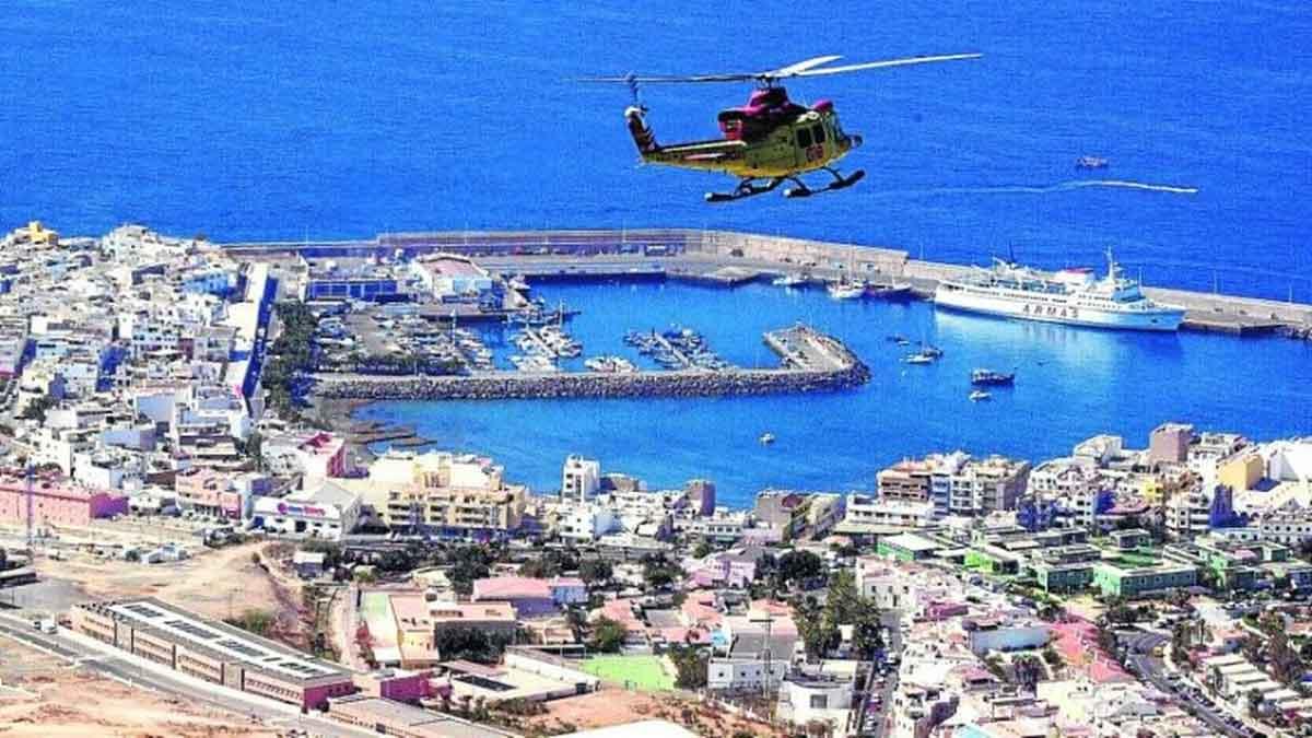 Flygbild hamnen Arguineguin