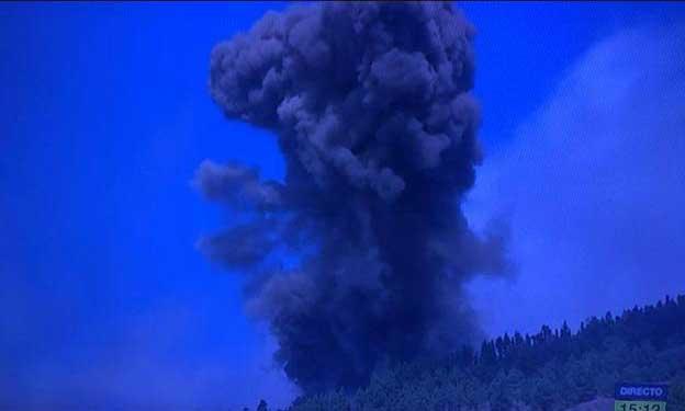 Vulkanutbrott på ön La Palma