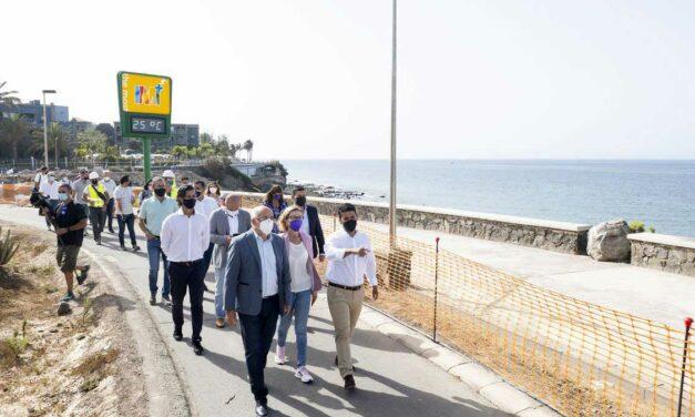 Förbättringar av strandpromenaden i Meloneras…