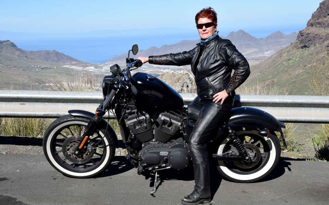 Med Harley Davidson på Gran Canaria