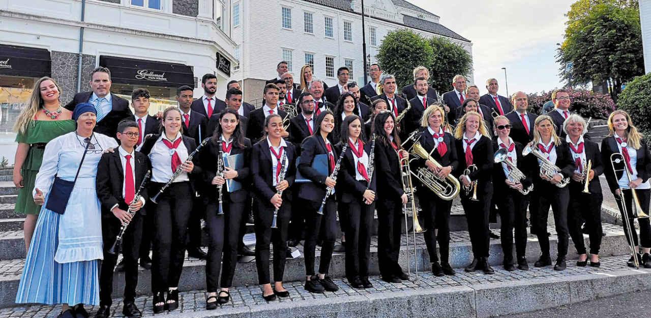Musikere fra Mogán på Sørlandsturné