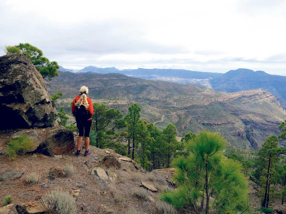 Utsikt østover, mot Tauro