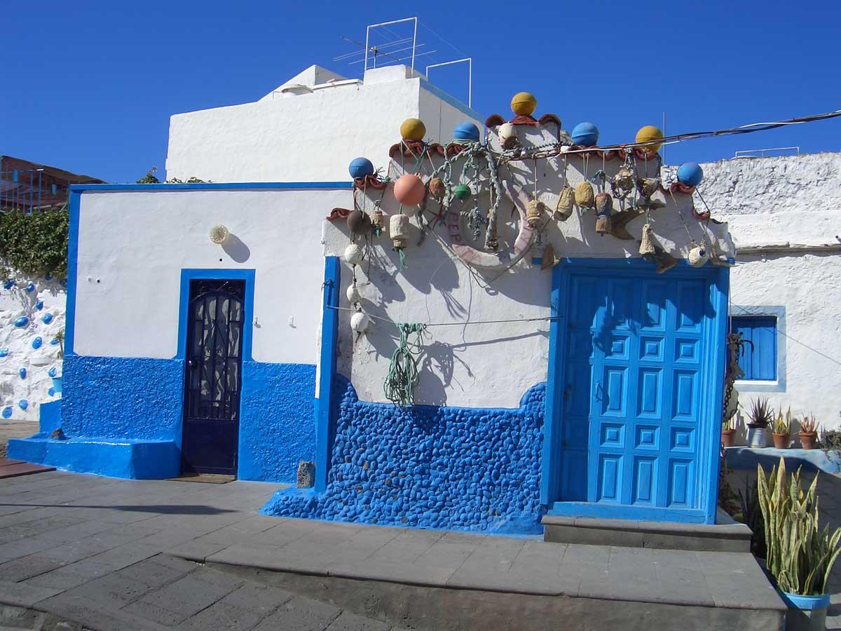 Blått hus i Agaete