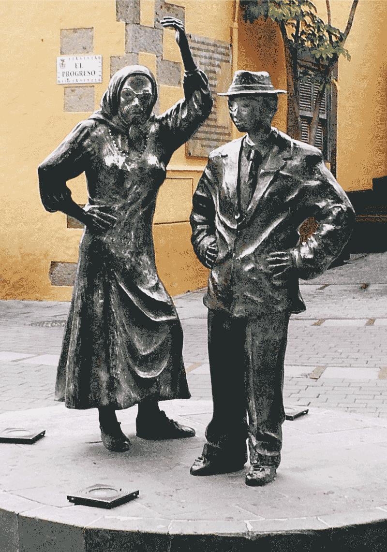 Staty utklätt par