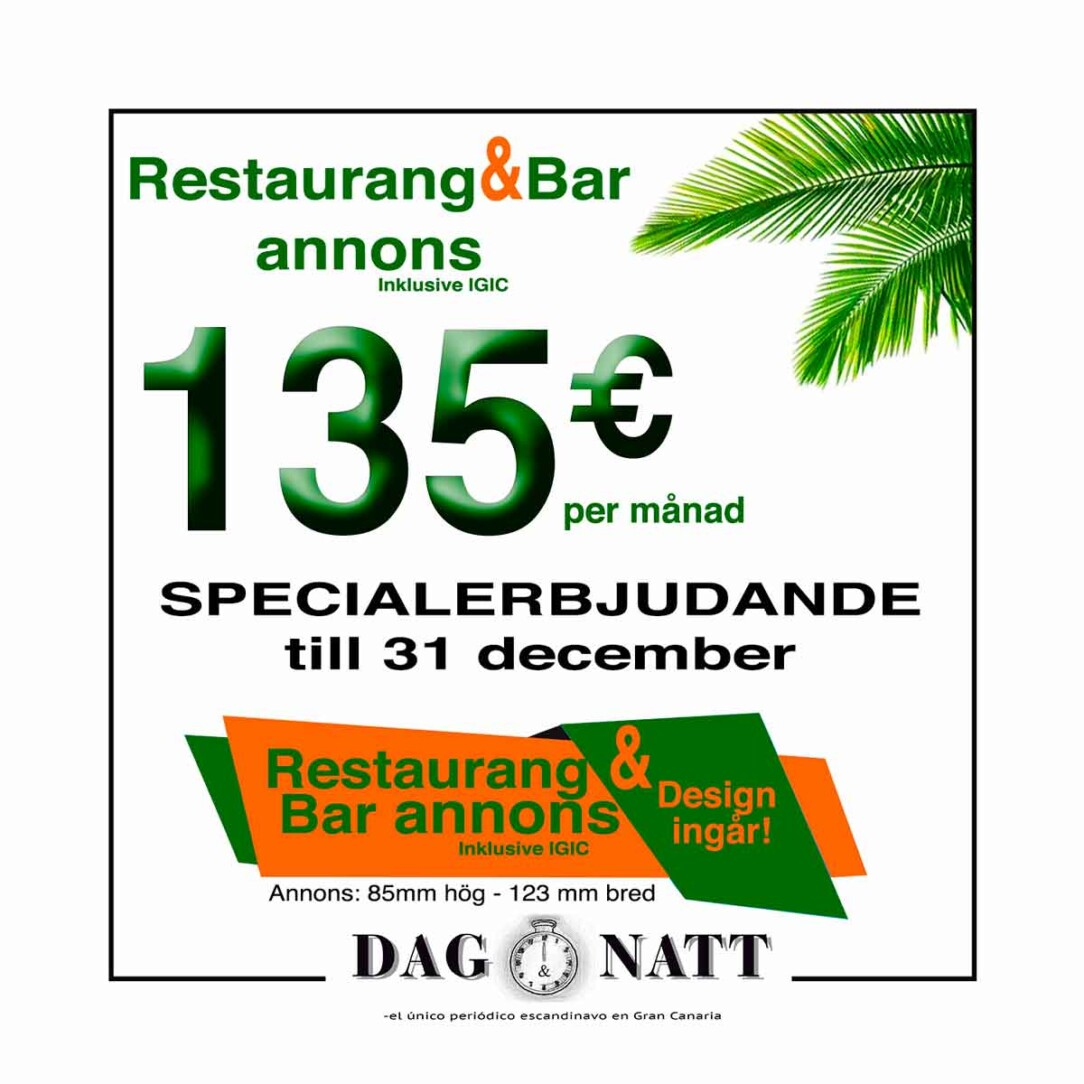 Restaurang & Bar 135€