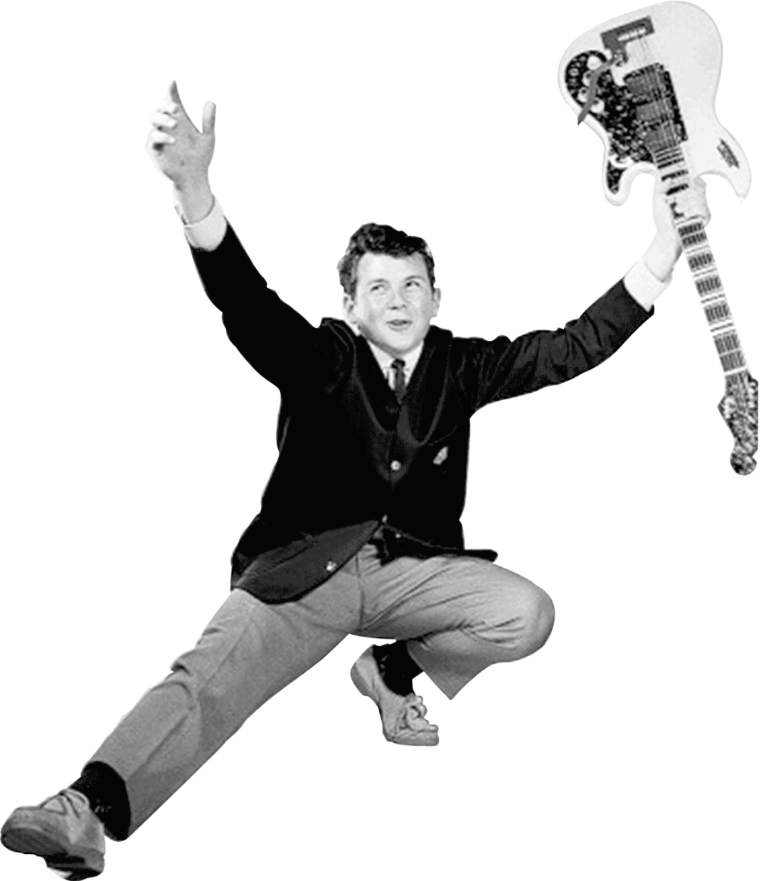 Gammal bild med gitarr