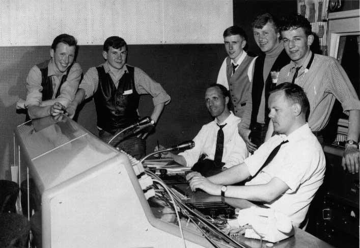Gruppen i studion