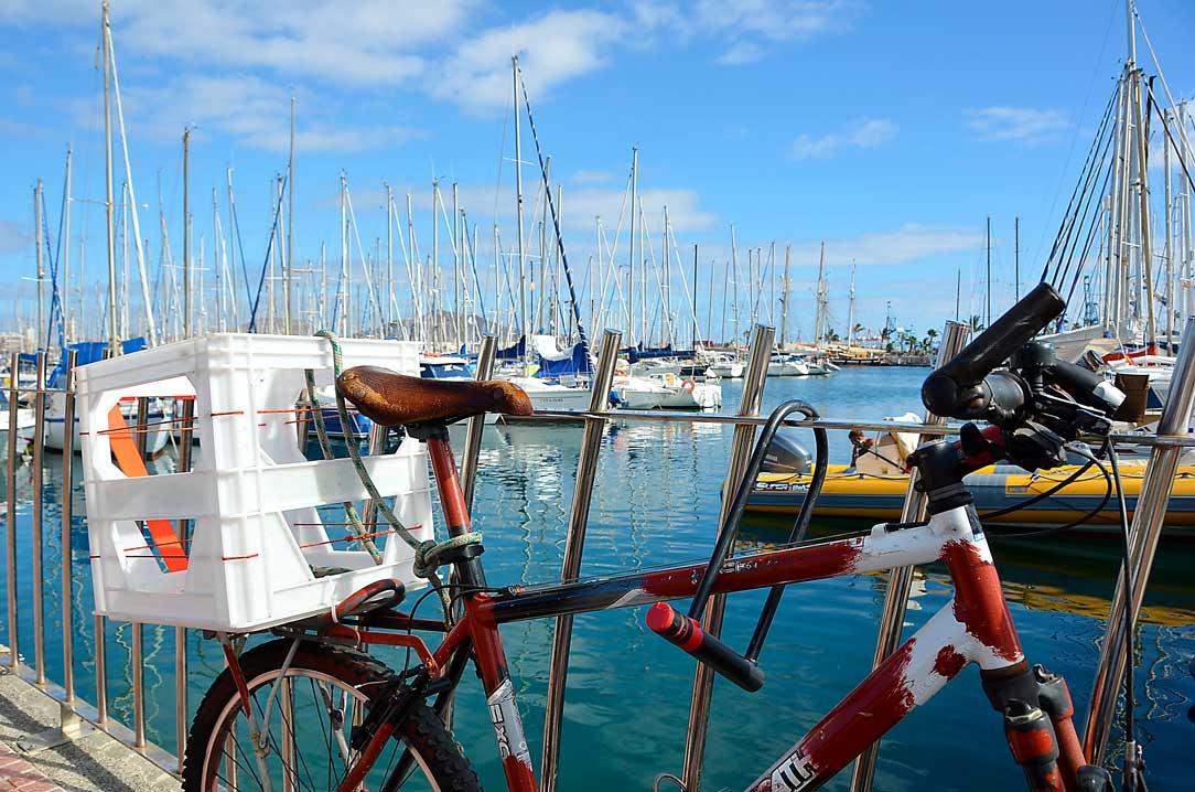 Cykel i hamnen