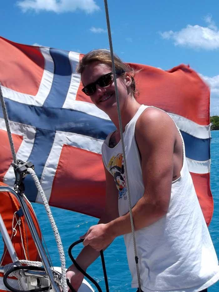 Vid norska flaggan