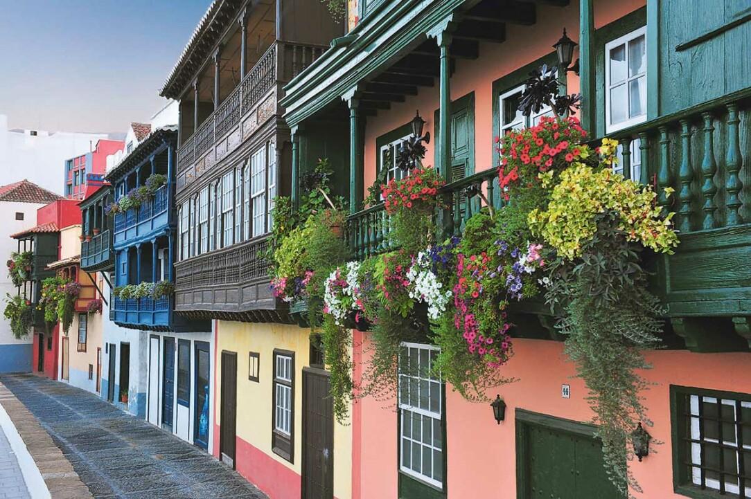 Balkonger på St Cruz de La Palma