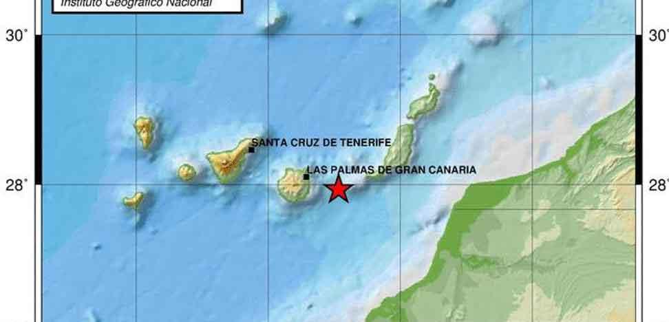 karta med Jordskalvet markerat