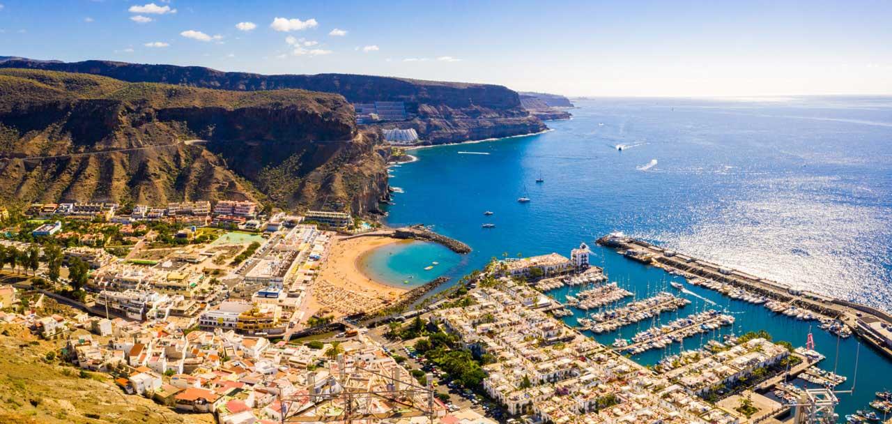 Flygbild puerto de Mogan